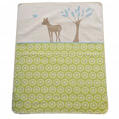 Babydecke Juwel Bambi hellgrün 70x90 cm