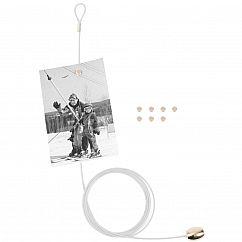 Fotoseil / Fotohalter Magnetseil, weiss