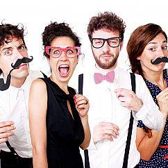 Photo Booth Party - 20 witzige Foto-Requisiten