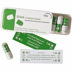 liebeskummerpillen Glück in kleinen Dosen - 7 kleine Sprüche in kleiner Kunststoffbox.
