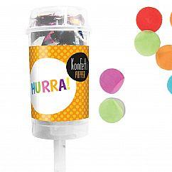 Konfetti Popper Hurra von liebeskummerpillen verschießt buntes Konfetti auf der nächsten Feier.