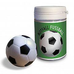 liebeskummerpillen Notfall Fussball: zwei kleine Mini-Stressbälle aus Kunststoff zum Mitfiebern und selber Spielen in kleiner Geschenkdose.