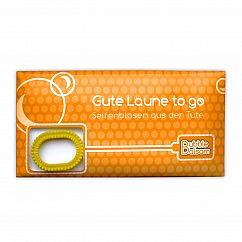 liebeskummerpillen Seifenblasen Gute Laune - Mini Tüte mit Seifenblasenflüssigkeit und Seifenplasen-Pustering.